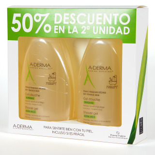 A-Derma Gel de Ducha Sobregraso 500 ml Pack Duplo