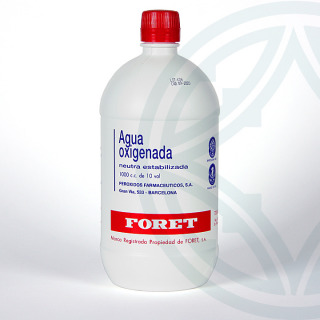 Agua Oxigenada Foret 10 volúmenes solución tópica 1000 ml