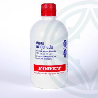 Agua Oxigenada Foret 10 volúmenes solución tópica 500 ml