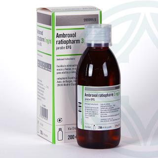 Ambroxol Ratiopharm EFG 3 mg/ml jarabe 200 ml