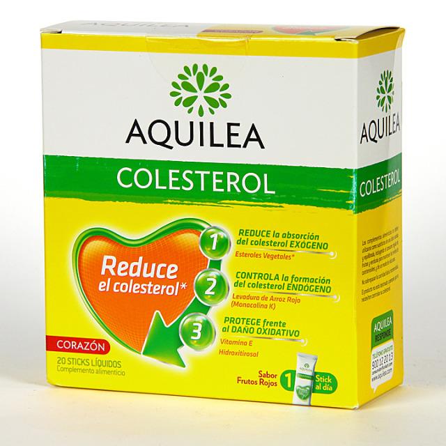 Aquilea Colesterol 20 Stick Líquidos Sabor frutos rojos