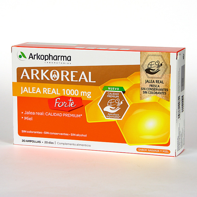 Arko Real Jalea Real 1000 mg Forte 20 ampollas