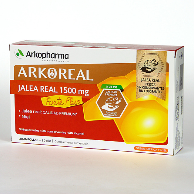 Arko Real Jalea Real 1500 mg Forte Plus 20 ampollas