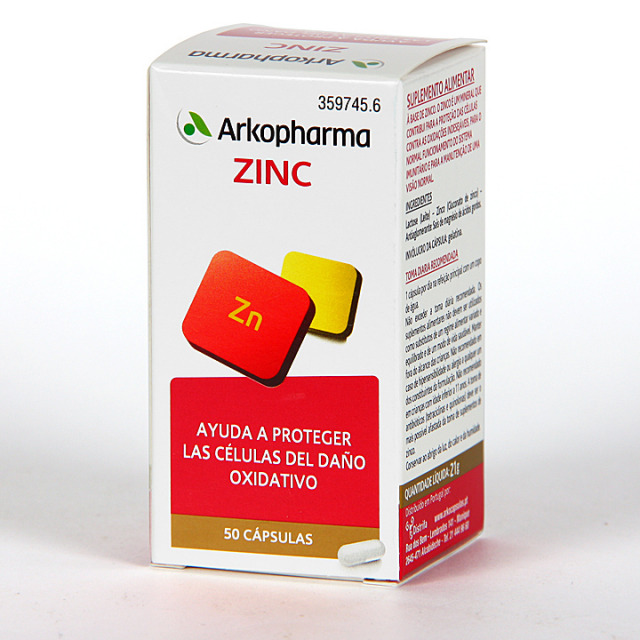 Arkopharma Zinc 50 cápsulas