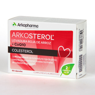 Arkosterol Levadura Roja de Arroz + Coenzima Q10 60 cápsulas