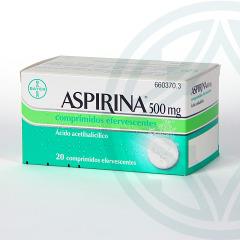 Aspirina 500 mg 20 comprimidos efervescentes