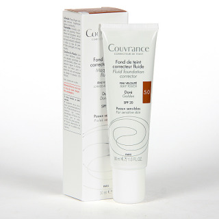 Avene Couvrance Maquillaje Fluido Oil-free Bronceado spf 15 30 ml