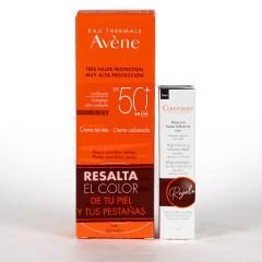 Avene Solar Crema coloreada SPF 50+ 50ml Pack Couvrance máscara de pestañas negra minitalla de regalo