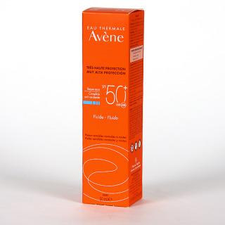 Avene Solar Fluido Toque seco SPF 50+ 50ml + Agua Termal Spray 50 ml Regalo