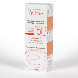 Avene Solar Leche Mineral Pantallas Físicas SPF 50+ 100 ml