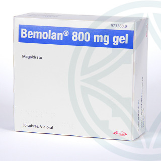 Bemolan 800 mg gel 30 sobres