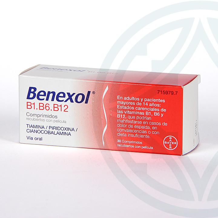Benexol B1 B6 B12 30 Comprimidos