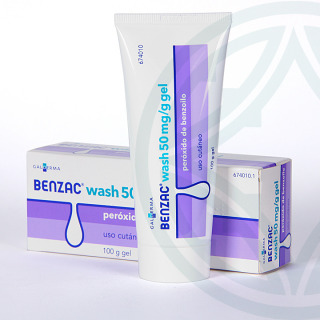 Benzac Wash 50 mg/g gel tópico 100 g