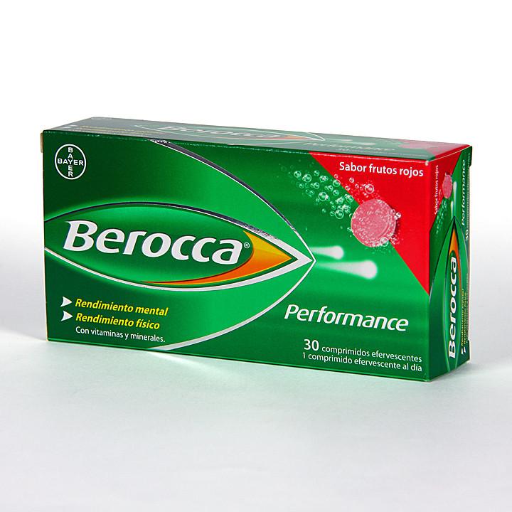 Berocca Performance 30 comprimidos efervescentes sabor frutos rojos