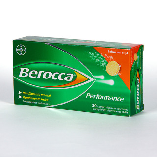 Berocca Performance 30 comprimidos efervescentes sabor naranja