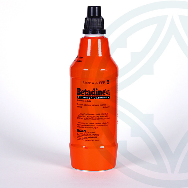 Betadine solución tópica jabonosa 500 ml