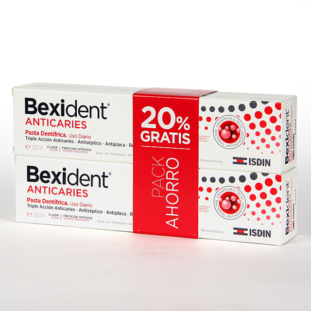 Bexident Anticaries pasta dentífrica 125 ml Pack Duplo
