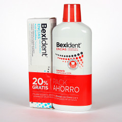 Bexident Encías Colutorio Clorhexidina 500 ml + Pasta Triclosan 75 ml Pack