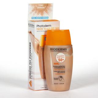 Bioderma Photoderm NUDE SPF 50+ Color Dorado 40 ml