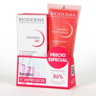 Bioderma Sensibio AR Crema + Sensibio Gel moussant 100 ml Pack ahorro
