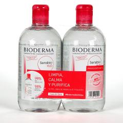 Bioderma Sensibio H2O Solución micelar piel sensible Frasco 500 ml Pack duplo
