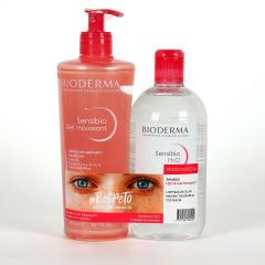 Bioderma Sensibio Gel moussant 500 ml + H2O Agua Micelar 500 ml Pack Ahorro