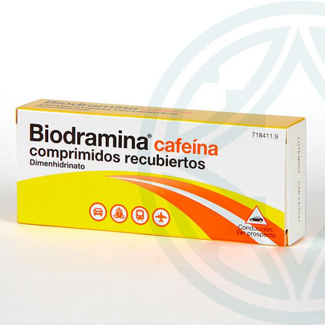 Biodramina Cafeína 4 comprimidos