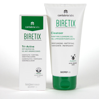 Biretix Tri-Active Gel Anti-imperfecciones + Biretix Cleanser Gel Limpiador Pack