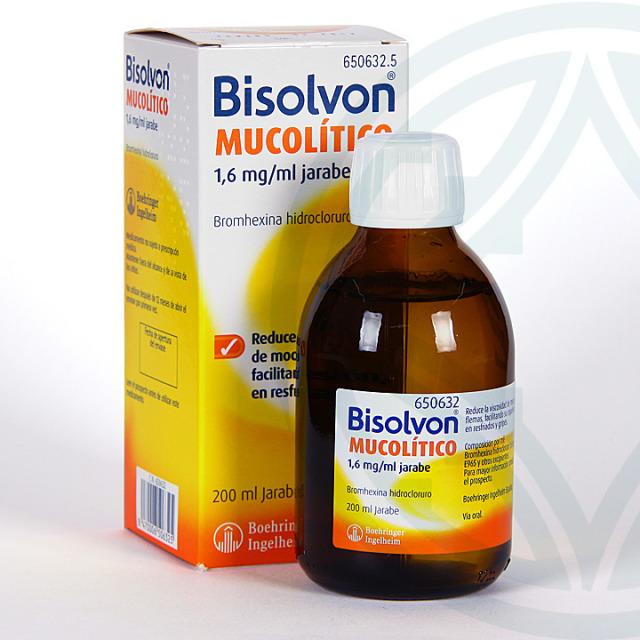 Bisolvon Mucolítico jarabe 200 ml