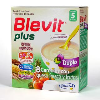Blevit Plus Duplo 8 Cereales con queso fresco y frutas 600 g