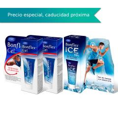 Bonflex Gel Efecto Calor 2x100 ml + Gel Efecto Frío 100 ml Pack Regalo