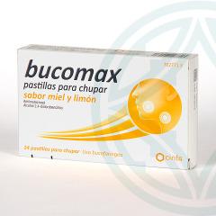 Bucomax 24 pastillas para chupar miel y limón