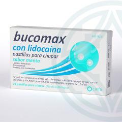 Bucomax Lidocaína 24 pastillas para chupar sabor menta