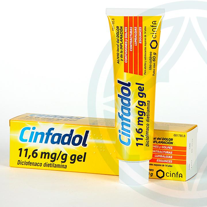 Cinfadol 10 mg/g gel tópico 60 g