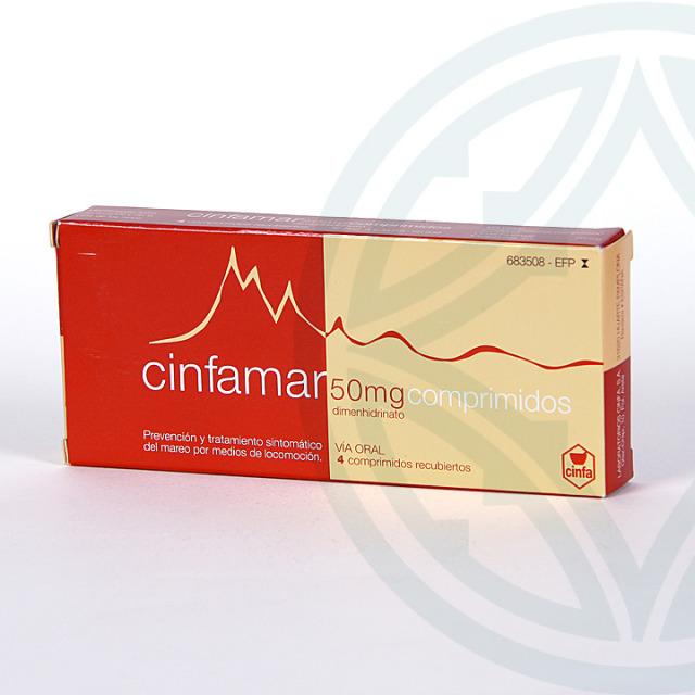 Cinfamar 4 comprimidos recubiertos