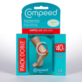 Compeed Ampollas medianas Pack Duplo 10 apósitos