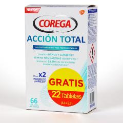 Corega Acción Total tabletas limpiadoras 44+22 pack Promo