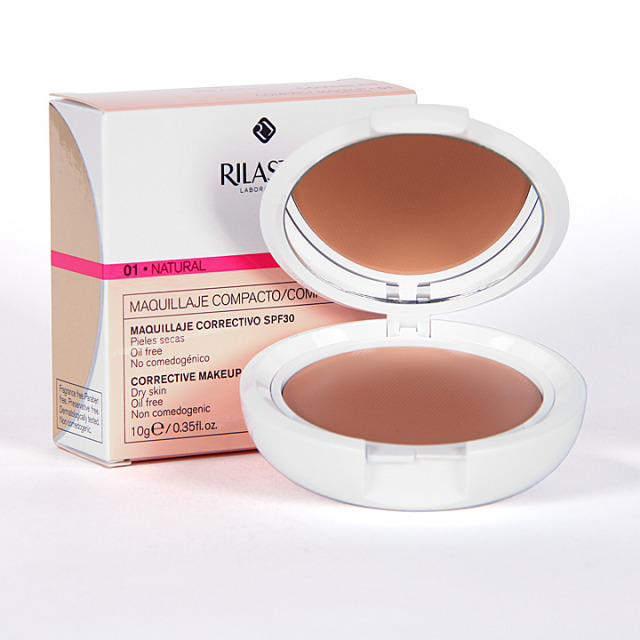Rilastil Cumlaude Coverlab Maquillaje compacto piel normal-seca Natural 01
