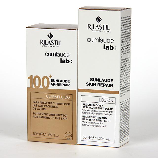 Rilastil Cumlaude Sunlaude AK-Repair SPF 100 + Sunlaude Skin Repair Loción Regalo