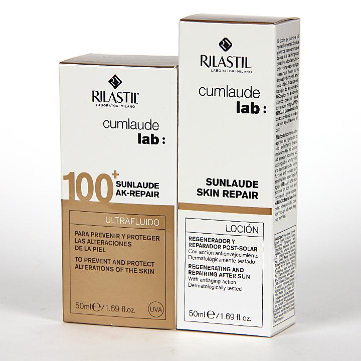 Cumlaude Sunlaude AK-Repair SPF 100 + Sunlaude Skin Repair Loción Regalo