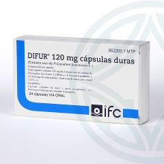 Difur 120 mg 24 cápsulas