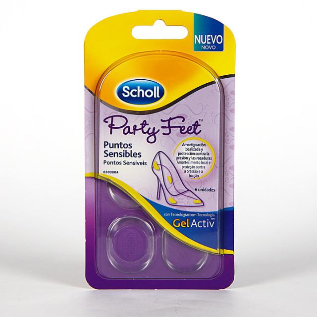 Dr. Scholl Plantillas Party Feet Puntos Sensibles 6 unidades
