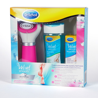 Dr.Scholl Velvet Smooth Diamond Crystals 3 pasos pies suaves