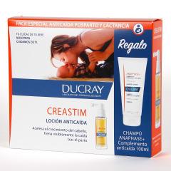 Ducray Creastim Loción Anticaída Estacional 2X30ml + Anaphase Champú 100 ml Regalo Pack