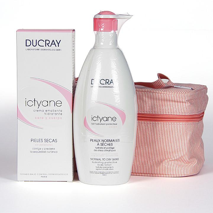 Ducray Ictyane Crema emoliente 200ml + Ducray Ictyane Loción corporal 500ml + Neceser de regalo