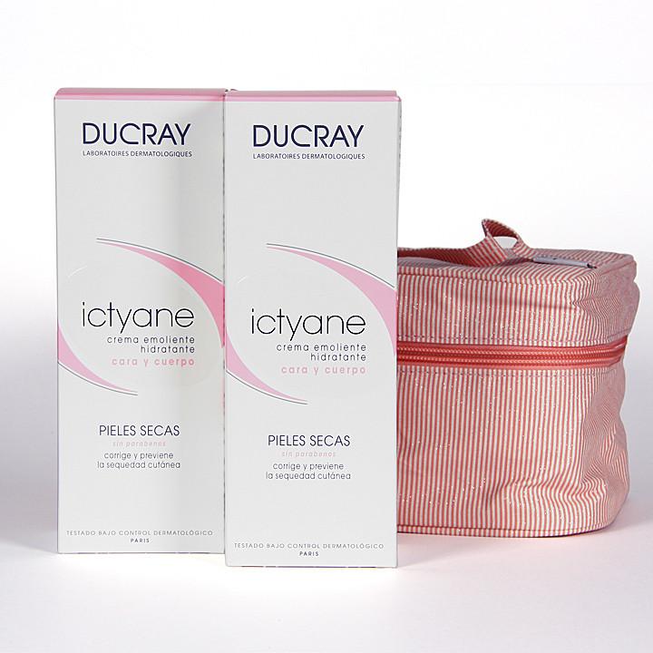 Ducray Duplo Ictyane crema emoliente cara y cuerpo 200ml + Neceser de regalo