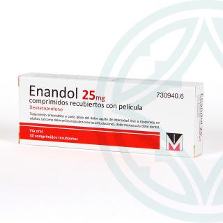 Enandol 25 mg 10 comprimidos