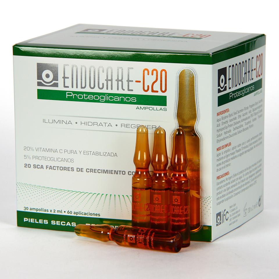Endocare C20 Proteoglicanos 30 Ampollas + Endocare Cellage Day SPF 30 15 ml de regalo