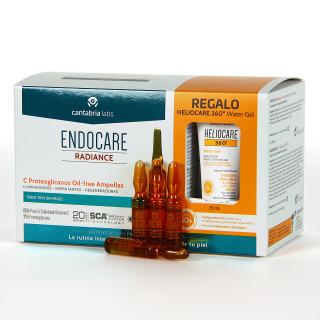 Endocare  Radiance C Proteoglicanos Oil free 30 Ampollas + Regalo Heliocare Water gel 15 ml