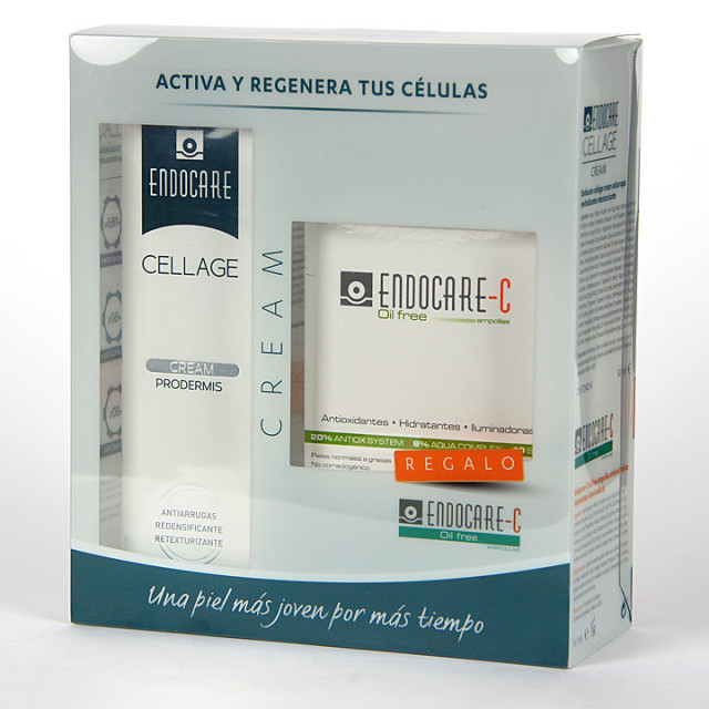 Endocare Cellage Crema Prodermis 50 ml + Endocare C oil free 7 Ampollas Pack Regalo